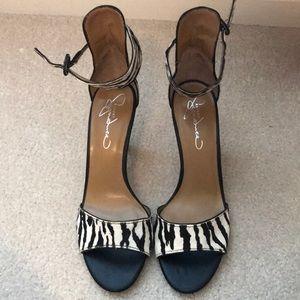 Zebra print heels